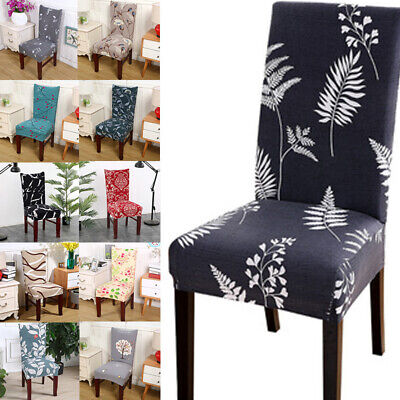AU5.99 • Buy Stretch Dining Chair Seat Covers Floral Printed Slipcover Wedding Banquet Decor