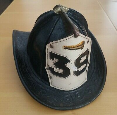£723.79 • Buy Vintage Authentic Retired Fdny Cairns Leather Fire Helmet With Front Shield