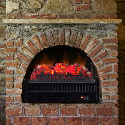 £119.95 • Buy Electric Fireplace 23  Remote Insert Heater Stove LED Wood Ember Bed Logs Burner