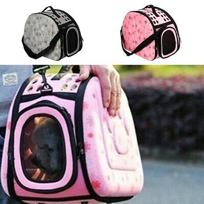 £12.99 • Buy Pet Dog Cat Puppy Portable Travel Carry Carrier Tote Cage Bag Crates Kennel