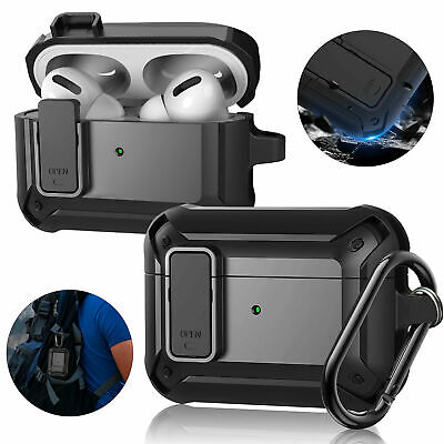 AU12.99 • Buy Heavy Duty Armor Case For Apple AirPods 1/2 Pro Cover + Keychain Clip Shockproof