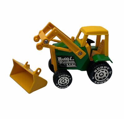 AU16.31 • Buy Vintage BUDDY L Front End Loader Tractor Yellow Green Plastic Damaged Scoop Used