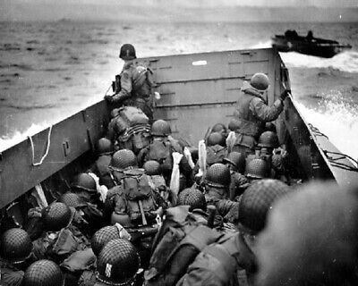 £4.19 • Buy US Soldiers Landing Craft Approach Omaha Beach On D-Day  WWII WW2 Photo 658