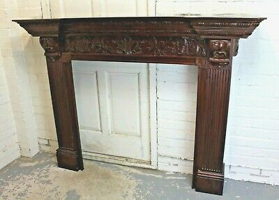 £125 • Buy Antique Style Carved Mahogany Fire Surround Chimney Piece (Can Deliver)