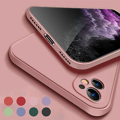AU9.99 • Buy For IPhone 13 Pro Max 12 11 XS XR 8 7+ Case Square Liquid Silicone Rubber Cover