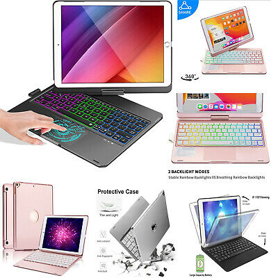 AU56.99 • Buy For IPad 5/6/7/8/9th Gen Air 1/2/3 Pro Smart Case With Bluetooth Keyboard Cover