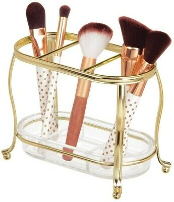 £8.99 • Buy MDesign Makeup Brush Holder – Plastic Cosmetic Organiser Stand With 3 Sections