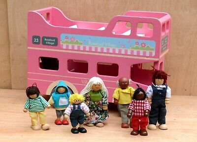 £21 • Buy Early Learning Centre Wooden Dolls House Rosebud Village Bus With Dolls