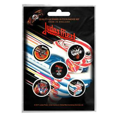 £4.99 • Buy Judas Priest Badge Pack Band Logo British Steel New Official 5 X Pin Button