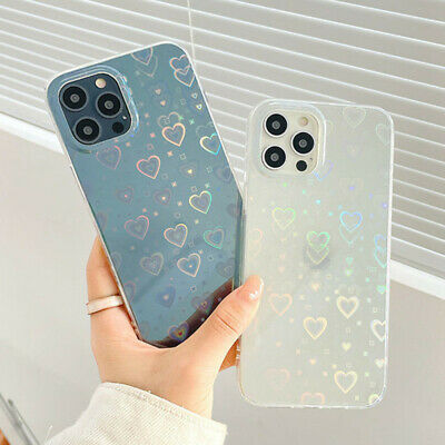 AU6.59 • Buy For IPhone 12 13 Pro Max 11 XR XS Max 8 Laser Love Heart Clear Phone Case Cover