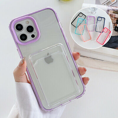 AU9.68 • Buy Wallet Card Slot Holder For IPhone 13 12 11 Pro Max XS XR 8 7+ Case Hybrid Cover