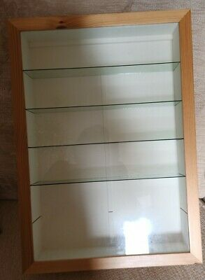 £15 • Buy Large Wood And Glass Display Cabinet