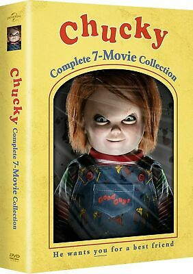 £137.12 • Buy Chucky Childs Play 7 Movie 1-7 Series Complete Collection DVD Collectors Box Set