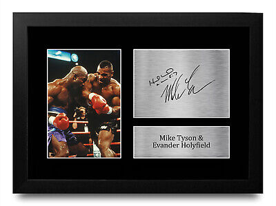 £19.99 • Buy Evander Holyfield & Mike Tyson A4 Boxing Gift Signed Photo Prints To Boxer Fans