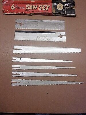 £14.62 • Buy Vintage Set Of 7 Nesting Saws No Handle 2 Miter 4 Keyhole 1 Double Combination