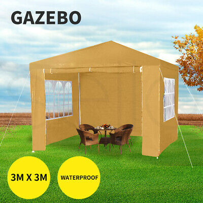 AU109.99 • Buy Mountview Gazebo Tent 3x3 Outdoor Marquee Gazebos Camping Canopy Mesh Side Wall