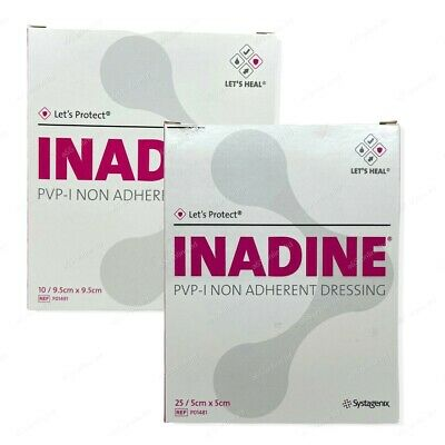 £3.57 • Buy INADINE Iodine Non Adherent Dressings ALL SIZES Antimicrobial Wound Treatment
