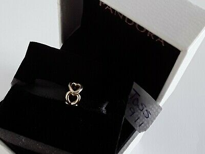 £70 • Buy Pandora 14ct Gold Open Heart Spacer Charm With  Box    750454