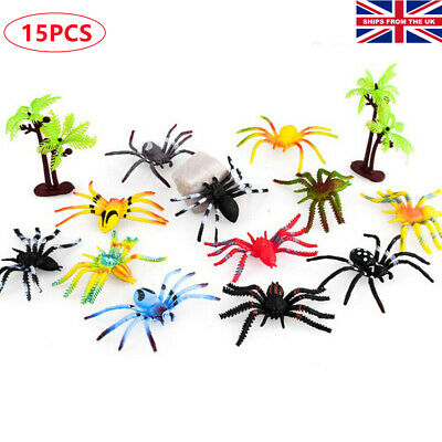 £5.69 • Buy 15pcs/Set Insects Bugs Spider Plastic Action Wild Animal Model Figures Kids Toy