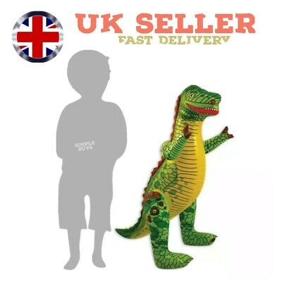 £3.99 • Buy LARGE INFLATABLE DINOSAUR Blow Up T-Rex Toy Dino Party Decor Kids 90cm UK