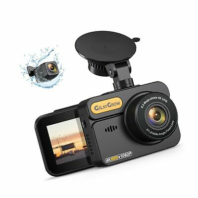 AU189.77 • Buy 4K Dash Cam Front And Rear Built-in GPS GILAYGROW Front 4K/2.5K And Rear 1080...