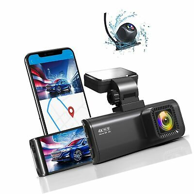 AU240.82 • Buy REDTIGER 4K Dual Dash Cam Built-in WiFi GPS Front 4K/2.5K And Rear 1080P Dual...