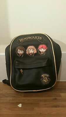 £12 • Buy Harry Potter Black Faux Leather PVC Backpack With Cartoon Characters Hogwarts♡♡