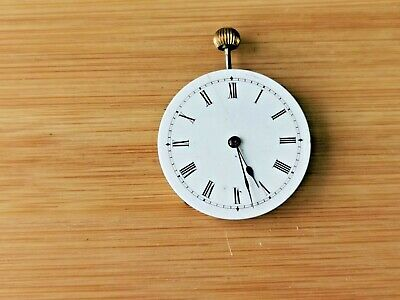 £19.99 • Buy Vintage Pocket Watch Movement With Dial / Hands, Working, Roman Numerals