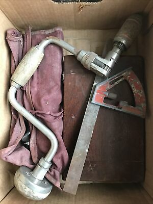 £4.21 • Buy Lot Of Vintage Tools Stanley Brace And Bit Set + Tap And Die Set Old Hand Tools