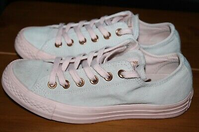 £8 • Buy Converse All Star Size Uk 5 Eur 37.5 Ladies Nude Pink Suede Trainers