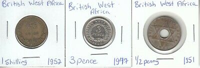 £2.52 • Buy British West Africa: Lot Of 3 Different Circulation Coins