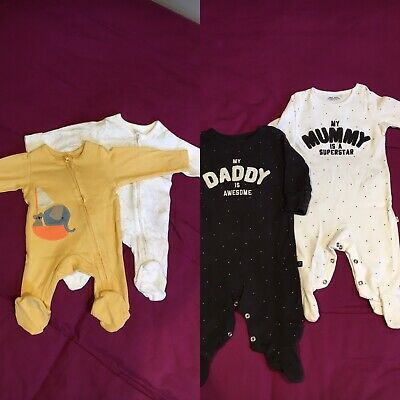 £5 • Buy Unisex Sleepsuits Newborn And 0-3m M&S And Next