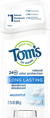 £14.85 • Buy Tom'S Of Maine Natural Long-Lasting Deodorant, Unscented, 64G