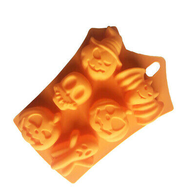 £2.95 • Buy Silicone Halloween Pumpkin Ghost Mold Cookies Fandont Chocolate Cake Jelly Mould