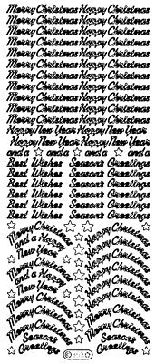 £1.05 • Buy C353: Assorted Straight & Arched Script Christmas  Peel Off Stickers Card Making