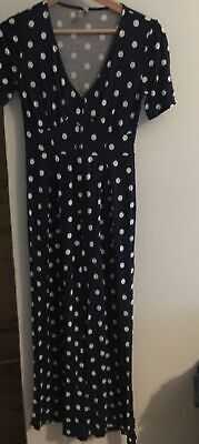 £1.40 • Buy Asos Ladies  Polka Dot Jumpsuit With Flared Legs.  Size 8. Very Stylish!