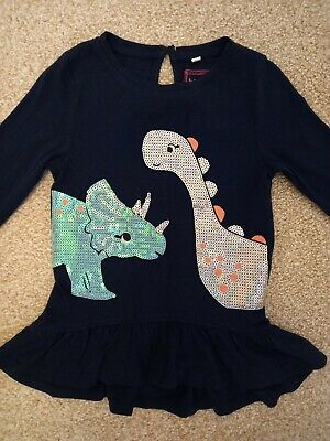 £10 • Buy NEW. Blue Zoo Baby Girl Sequin Dinosaur Dress/top. Age 18-24 Mths. Height 92cm.