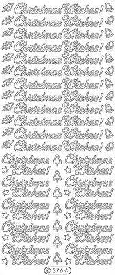 £1.05 • Buy C376: Pretty Christmas Wishes Straight & Joined Peel Off Stickers Card Making