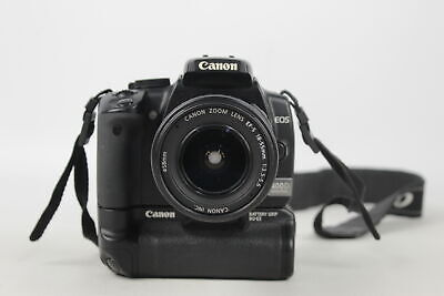 £33 • Buy Canon EOS 400D DSLR DIGITAL CAMERA W/ 18-55mm Lens & Canon Battery Grip WORKING