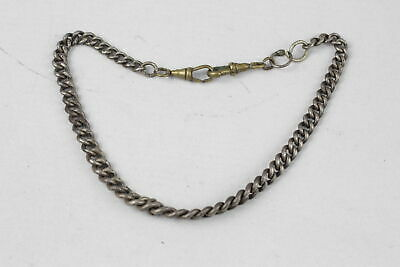 £12.50 • Buy Vintage .925 Sterling Silver Partial WATCH CHAIN Inc. Dog Clips, Graduated (37g)