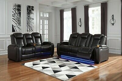 $2295 • Buy Ashley Furniture Party Time Power Recline Sofa And Loveseat Living Room Set