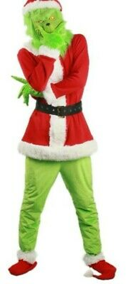 £20 • Buy Adult Grinch Costume How The Grinch Stole Christmas Costume Set Xmas Costume