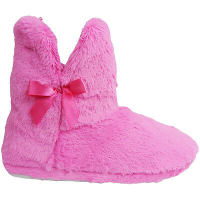 £11.95 • Buy Ladies Womens Pull On Warm Ankle Boots Booties House Outdoor Slippers Shoes Size