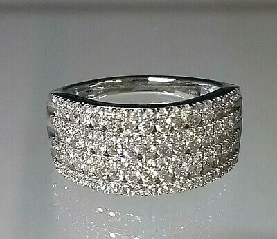 £645 • Buy MAGNIFICENT Genuine 1ct Diamond Cluster Ring 9ct White Gold  ABSOLUTE STUNNER