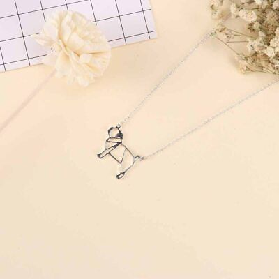 £2.75 • Buy Stunning Silver Tone Origami Pug Dog Necklace..In Organza Gift Bag