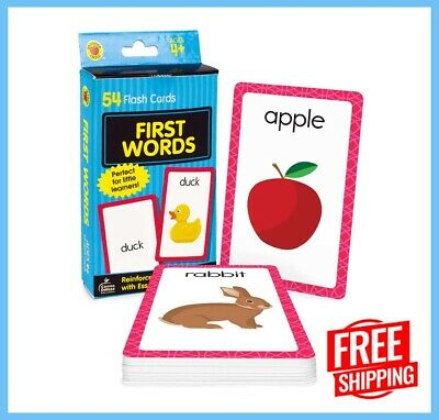£3.84 • Buy Baby Book First Words Brighter Child Flash Cards For Toddler And Kid Gift