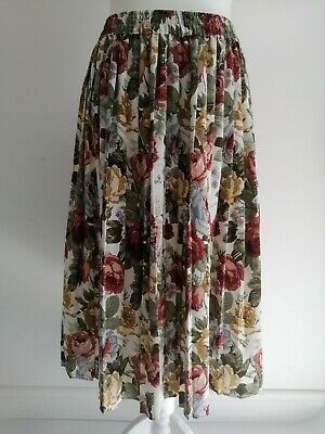 £0.99 • Buy St Michael Vintage Marks & Spencer Pleated Autumn Floral Skirt *flaws*