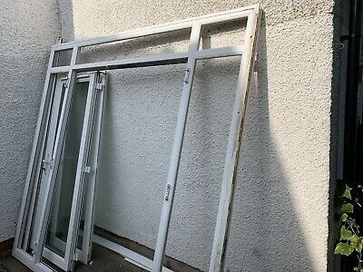 £80 • Buy Exterior External Upvc Double Glazed French Doors In Frame With Side Windows