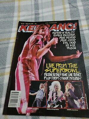 £2 • Buy Kerrang 1989 No 253 Live From The Superbowl