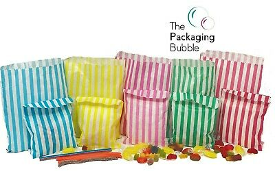 £2.29 • Buy Candy Stripe Paper Bags Party Wedding Cake Sweet Treat Pick&Mix Buffet Gift Shop